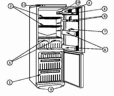 холодильника STINOL-101: 1